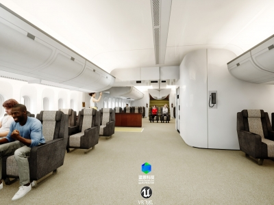 airplane vr,made by Unreal Engine